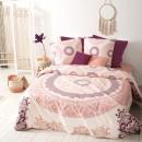 print set mandala ros 240x220, roze