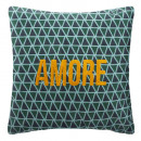 wholesale Cushions & Blankets: Amore embroidered neck cover 40x40, blue
