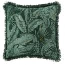 Funda de cuello de selva bordada 40x40, verde