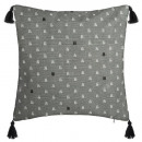 wholesale Cushions & Blankets: flower embroidery neck cover 40x40, gray