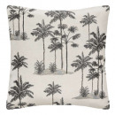 cover cous jacq lur palm40x40, black & white