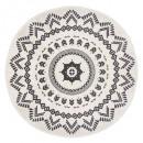 nomadyczny okrągły dywan d120, czarno-biały