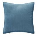 coussin cotele bleu 40x40, bleu