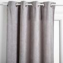 Gray rib curtain 140x260, light gray