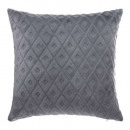 Pillow flan 3d losan gr 40x40, dark gray