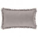 coussin frange gc 30x50, gris clair