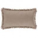 coussin frange lin 30x50, lin