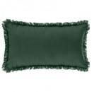 coussin frange cedre 30x50, vert cèdre