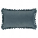 wholesale Cushions & Blankets: Pillow fringe storm 30x50, blue storm