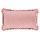 wholesale Cushions & Blankets: Pillow pink fringe 30x50, pink