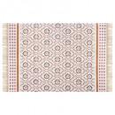 120x170 mosaiq coton carpet, medium pink