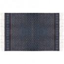 tapijt katoen 120x170 aarde, blauw