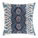 Pillow printed fringe earth 40x40, 2-times assort