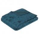 wholesale Bedlinen & Mattresses: Coloni print bedspread 240x220, duck blue