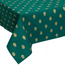 Web algodón hoja de oro de 140x240, de color verde