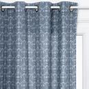 rideau imprimée hiver 140x260, bleu