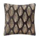 Pillow in gold velvet tropic gr 40x40, dark gray