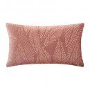 Cojín terciopelo gold tropic bsh30x50, rubor rosad