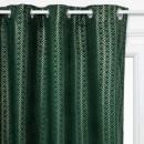 Cortina de terciopelo verde oro 140x260, verde osc