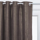 rideau velour or gris 140x260, gris