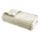 plaid mesh xl ivory 125x150, ivory