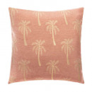 wholesale Cushions & Blankets: chen chen palm ro 40x40 cover, coral