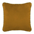 Pillow in velvet led edge oc 40x40, ocher