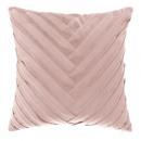 Pillow in velvet braid ro 40x40, light pink