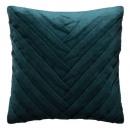 Pillow in velvet can braid 40x40, duck blue