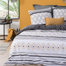 wholesale Bedlinen & Mattresses: print set etni nb 260x240, black & white