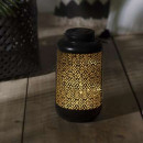 solar metal lantern h25,5, zwart
