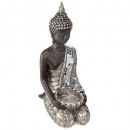 wholesale Figures & Sculptures: candle holder Buddha mir h23, silver