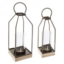 metal lantern collect wood x2, multicolored
