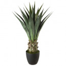 agave round pot h78, dark green