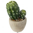 mini cactus pot cim h18, 2-fois assorti, gris