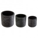 set pots 3d nr x3, black