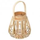 wholesale Wind Lights & Lanterns: box rattan lantern d14,5xh16, sand