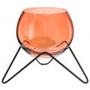 wholesale Wind Lights & Lanterns: tealight glass base metal living d13, 2-times as