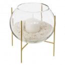 wholesale Home & Living: candle holder glass + candle + sand d15, 2-time as