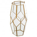 tealight transparent glass + brass h31, 2-fold
