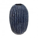 ceramic vase ocean h15,5, dark blue