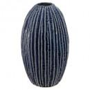 keramische vaas oceaan h20,5, donkerblauw