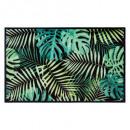 alfombra 50x80cm tropical, verde
