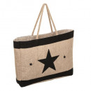 wholesale Bags & Travel accessories: jute shopping bag, 2- times assorted , assorted co