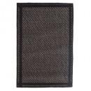 Alfombra 50x80cm rejilla negro, negro.