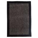 alfombra 50x80cm chevron negro, negro