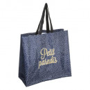shopping bag paradiso, blu scuro