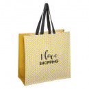 shopping bag di senape, giallo
