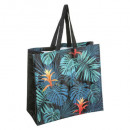 sac shopping feuille, multicolore