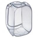 cesto de la ropa + almacenamiento 2 en 1, gris